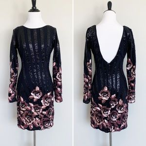 Dress the Population Lola Sequin Rose Dress